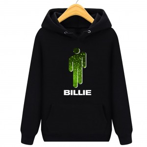 Billie Eilish Green -  bluza damska z kapturem  kangurka